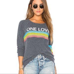 Chaser One Love Rainbow Sweatshirt Sz S